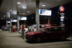 Auckland motorways. CHRISTCHURCH, NEW ZEALAND, JANUARY 23, 2015: An all-night service station attracts customers in Christchurch, New Zealand on January 23, 2015 Royalty Free Stock Images