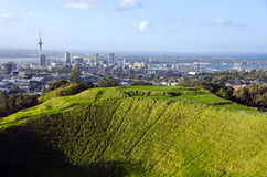 Auckland and Mt Eden Volcano Stock Images
