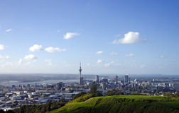 Auckland and Mt Eden Volcano Royalty Free Stock Photos