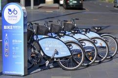 Auckland nabrzeża roweru dzierżawienie - Nowa Zelandia Zdjęcia Stock