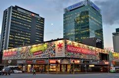 Auckland nachts Lizenzfreies Stockbild