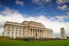 Auckland National Museum. Front Shoot of Auckland National Museum, known for the famous collection about pacific and New Zealand Culture Royalty Free Stock Image
