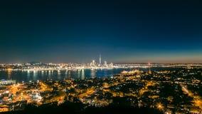 Auckland natt-scape Arkivbild