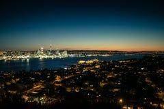 Auckland natt-scape Royaltyfria Foton