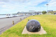 Auckland, neues Seeland 10. Dezember 2013 Alter Metallankerdekor Stockfoto