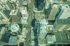 Auckland, neues Seeland 12. Dezember 2013 Draufsicht von Himmel towe Lizenzfreie Stockfotos
