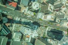 Auckland, neues Seeland 12. Dezember 2013 Draufsicht von Himmel towe Stockbilder