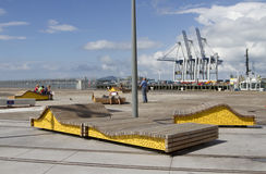 Auckland New Zealand benches Stock Photography