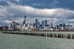 Auckland New Zealand cityscape view panorama. Auckland New Zealand cityscape panorama huge landscape stock images