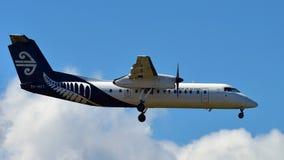 Air New Zealand ATR-72 domestic turboprop aircraft landing at Auckland International Airport. AUCKLAND, NEW ZEALAND - DECEMBER 17: Air New Zealand ATR-72 Stock Photos