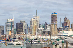 Auckland, New Zealand- December 10, 2013. Auckland city and harb Royalty Free Stock Photography
