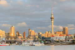Auckland, New Zealand- December 9, 2013. Auckland city and sky t Stock Image