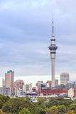 Auckland, New Zealand- December 9, 2013. Auckland sky tower is t Stock Photos