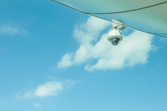 Auckland, New Zealand- December 12, 2013. CCTV on Auckland sky t. Ower Stock Images