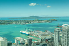 Auckland, New Zealand- December 12, 2013. Landscape view from Au Stock Image