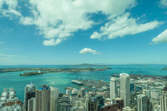 Auckland, New Zealand- December 12, 2013. Landscape view from Au Royalty Free Stock Images