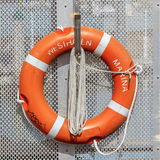 Auckland, New Zealand- December 10, 2013. The life buoy is hange Stock Photography