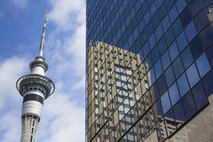 AUCKLAND, NEW ZEALAND - NOV 24 2014: 328 metres (1,076 ft) tall Royalty Free Stock Photography
