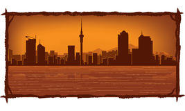 Auckland New Zealand skyline Royalty Free Stock Photos