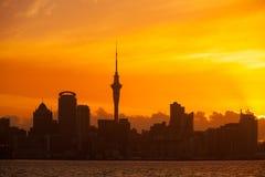 Auckland New Zealand Skyline Stock Image