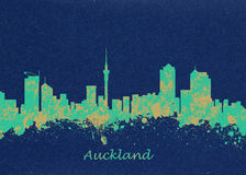 Auckland New Zealand Skyline Stock Photo