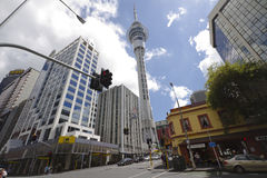 Auckland New Zealand streets Royalty Free Stock Images