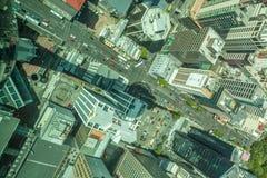 Auckland, Nieuw Zeeland 12 December, 2013 Hoogste mening van hemel towe Royalty-vrije Stock Foto's