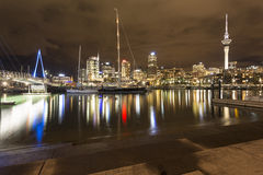 Het Viaduct van de Stad van Auckland stock afbeeldingen