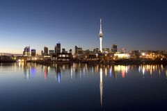 Auckland Night royalty free stock photos