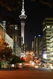 Auckland at night, New Zealand Royalty Free Stock Photos