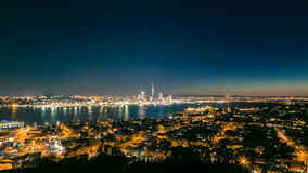 Auckland Night-scape. In New Zealand Stock Photography