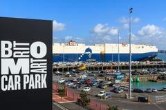 Auckland, Nouvelle Zélande Une partie du port du Britomart Carpark photographie stock