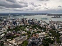 Auckland, Nowa Zelandia antena obraz royalty free