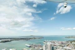 Auckland, nuevo Selandia 12 de diciembre de 2013 Fview franco de la ciudad de Auckland foto de archivo