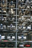 AUCKLAND NYA ZEELAND - JUNI 14, 2012: Marin- fartyglagringslätthet arkivfoto