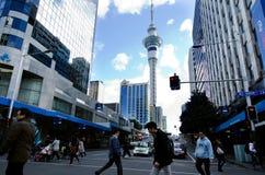 Auckland pejzaż miejski - królowej ulica Obrazy Stock