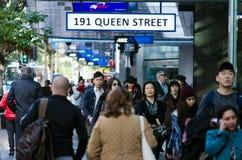 Auckland pejzaż miejski - królowej ulica Obraz Royalty Free
