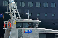 Auckland Police Maritime Unit patrol in ports of Auckland - New Royalty Free Stock Photo