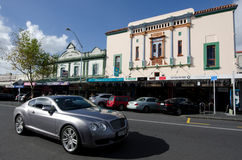 Auckland - Ponsonby. AUCKLAND, NZ - MAY 27:Traffic on ponsonby road on May 30 2013.It's known for its vibrant restaurants, cafes, art galleries, up-market shops Stock Photo