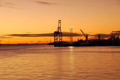 Auckland port Royalty Free Stock Photos