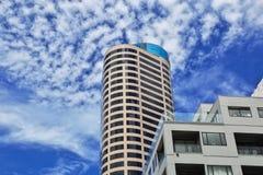 Auckland ?r en h?rlig stad i Nya Zeeland royaltyfria foton