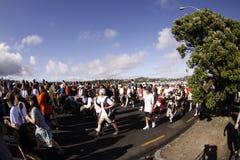 Auckland ringsum den Schachtspaßlack-läufer Stockfotos