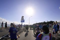 Auckland Round the Bays Marathon. Participants of Auckland Round the Bays, one of the world's largest fun walk and run with an estimated 70,000 entrants, in Stock Photography