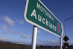 Auckland Sign Royalty Free Stock Photography