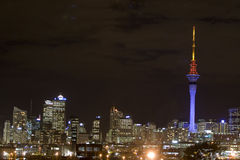 Free Auckland Sky Tower At Night Stock Photography - 3336892