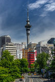 Auckland sky tower new zealand Stock Photo