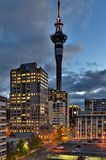 Auckland Sky Tower at Night Royalty Free Stock Photo