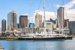 Auckland skycrapers royaltyfria bilder