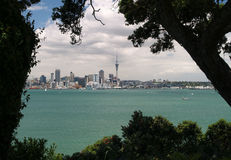 Auckland skyline. From North Shore, New Zealand Stock Photos