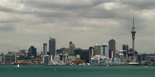 Auckland skyline. From North Shore, New Zealand Stock Images